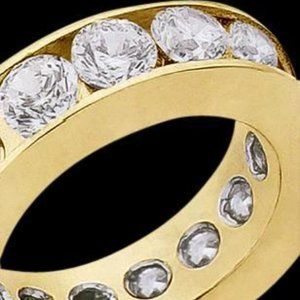 2.70 carats wedding band G diamonds ring eternity
